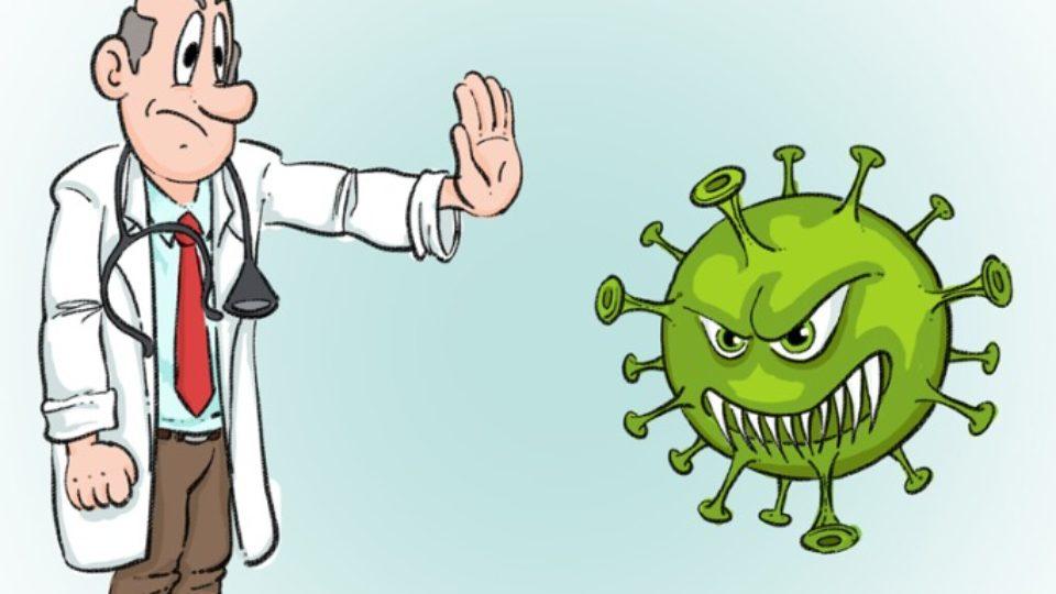 corona og læge